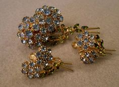 Vendome Brooch and Earrings