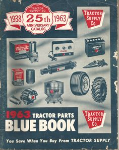 Vintage Tractor Supply Company Blue Book by vintagepostexchange, $9.00