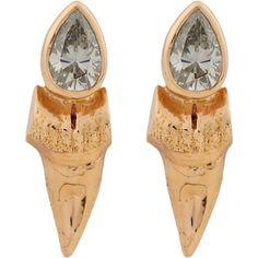 Dezso by Sara Beltran Diamond & Rose Gold Shark Tooth Stud Earrings at Barneys.com Stud Finder, Shark Tooth, Bracelet Watch, Rose Gold, Stud Earrings, Diamond, Bracelets, Accessories, Fashion