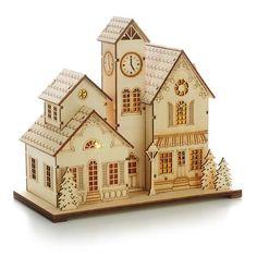 Hallmark Store Laser-Cut Wood Village Scene $34.95