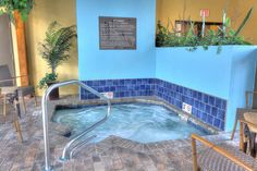 We also have a family sized hot tub, so everyone can enjoy a peaceful soak.