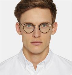 Garrett Leight California Optical - Wilson Round-Frame Acetate and Metal Optical Glasses