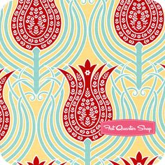 Joel Dewberry—Notting Hill Canary Tulips Yardage SKU# PWJD060-CANAR - Fat Quarter Shop