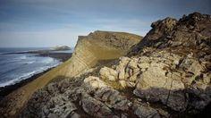 Rhossili Bay //  South Wales // Worms Head from Rhossili Cliffs, West Glamorgan, South Wales.