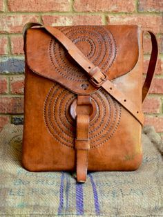 Handmade Leather Shoulder Bag - Awesome Canvas Bag