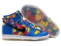 best service a1ea9 7a3f4 Chaussures Nike Dunk High Bleu Jaune Rouge Rose Noir nike11817