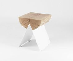 1/2 Stool With White Base - Vitamin D.