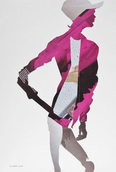 "Saatchi Online Artist Elizabeth Lever; Collage, ""Pink Jacket"" #art"