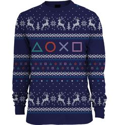 Shirk your family responsibilities this Christmas by slinking off in this cool jumper and playing PlayStation games all afternoon. *** More details can be found by clicking on the image. Knitted Christmas Jumpers, Christmas Knitting, Christmas Sweaters, Christmas Décor, Holiday, Cool Jumpers, Jumpers For Women, Playstation Games, Tricot