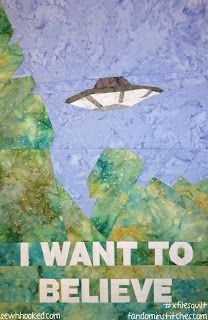 I love this one!! X Files Poster  - Paper Pieced