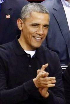 President Barack Obama. game time. #dappergray via theobamadiary.com