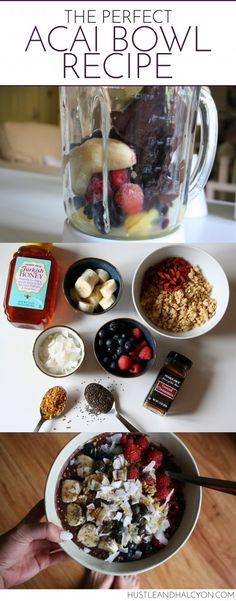Acai Bowl Recipe: The best Acai Bowl Ever | Hustle + Halcyon
