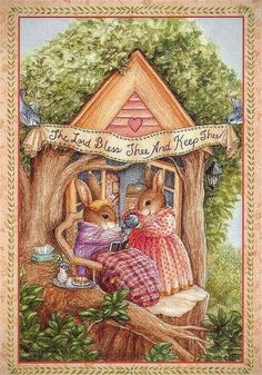 Susan Wheeler - The Lord Bless Thee and Keep Thee Susan Wheeler, Beatrix Potter, Children's Book Illustration, Illustrations, Somebunny Loves You, Bunny Painting, Motifs Animal, Bunny Art, Decoupage
