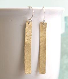 Brass Tile Earring