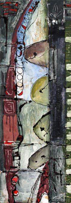 senza titolo - acrilico, tessuto su tavola - 80x30 - 2008
