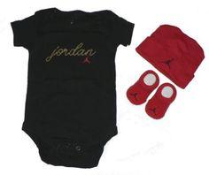 baby jordan onesie set