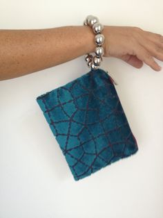 Evening purse bag Blue sapphire small clutch by vquadroitaly