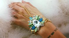 New in our #Summer #Collection: #Hand #Jewels - All #Crystals from #Swarovski® - All #Gold-plated #Elements