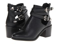 Wanted Gatsby Black - like Jeffrey Campbell Evelyn, but higher and $80 vs +$200. Leather & synth upper
