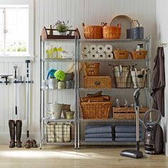 Our wire shelving is now available in a black or white finish for a greater range of design options. Originally produced for commercial kitchens, this exceptionally strong steel shelving brings sleek open storage to your home kitchen, pantry, lau… Metro Shelving, Metal Shelving Units, Steel Shelving, Wire Shelving, Utility Shelves, Kitchen Shelves, Kitchen Storage, Kitchen Pantry, Corner Pantry