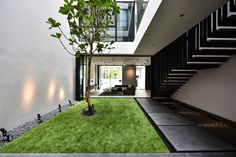 Edmund Ng Architects Pillars, Staircase, Interior, House, Architecture Courtyard, Indoor, Modern, Courtyard Design, Home Decor