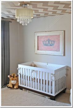 Oh my goodness. Babyletto Modo 3-in-1 Convertible Crib in a Room fit for a PRINCESS!