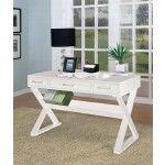 Criss Cross Desk in White - Coaster 800912   SPECIAL PRICE: $430.92