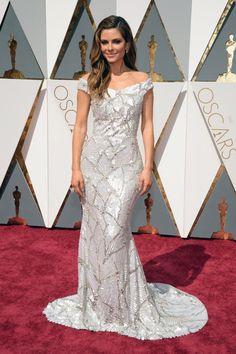 Pin for Later: Retour Sur Tous les Looks des Oscars 2016 Maria Menounos Portant une robe signée Christian Siriano.