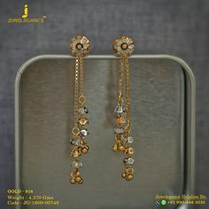 Gold Jewelry Gold 916 Premium Design Get in touch with us on 919904443030 - Gold Chain Design, Gold Ring Designs, Gold Bangles Design, Gold Jewellery Design, Designer Jewellery, Designer Earrings, Jewelry Design Earrings, Gold Earrings Designs, Necklace Designs