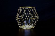 #candleholder #geometric #brass #gold #diamondshape #decorate Diamond Candles, Diamond Shapes, Home Gifts, Gifts For Her, Candle Holders, Interior Decorating, Brass, Chair, Gold