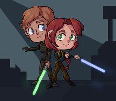 Fun little image of Luke and Mara Thrawn Trilogy, Mara Jade, I Have Spoken, Anakin Skywalker, Star Wars Humor, Obi Wan, Long Time Ago, Little Star, Science Fiction