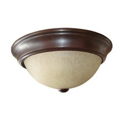 $21.97 Project Source�2 -Pack 13 Inches W Bronze Ceiling Flush Mount by stairs & 1 upstairs