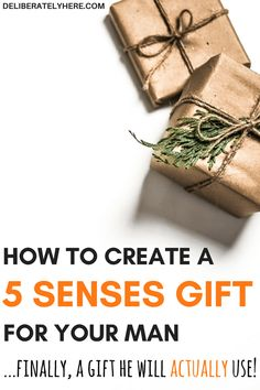 how to create a 5 senses gift for him | gifts for men | gifts men will use