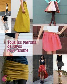 La liste de tous les patrons & DIY de jupes pour femme