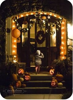 halloween front porch by camber
