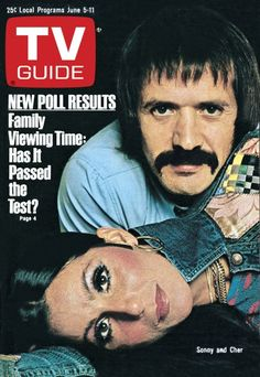 TV Guide June 5, 1976 - Sonny Bono and Cher of The Sonny and Cher Show.