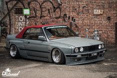 Bmw E30 320i, Rocket Bunny Kit, E30 Convertible, Bmw Old, Front Grill, Exterior Trim, Wide Body, Car Show, Jdm