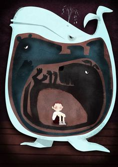 An illustrated poster about child depression ::: Illustrated by Dermot Flynn for Langland