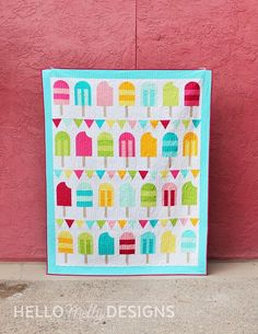 It's here! The first of THREE new patterns I released today (one of which is absolutely FREE!) is this perfectly playful Popsicle Parade Quilt Pattern. Warning: LOTS of absolutely delightful …