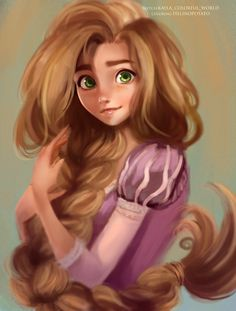Rapunzel by HelinoPotato.deviantart.com on @DeviantArt