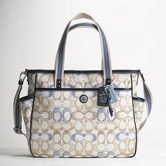 Coach Baby Bag - Must have for my collection of bags when that time comes. Coach Bags Sale, Fashionable Diaper Bags, Wholesale Designer Handbags, Crossbody Bag, Tote Bag, China, My Collection, Baby Love, Fashion Bags