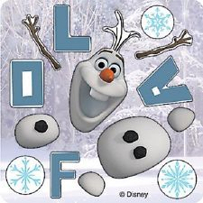 15 MAKE YOUR OWN FROZEN OLAF Stickers Party Favors - FREE SHIPPING!