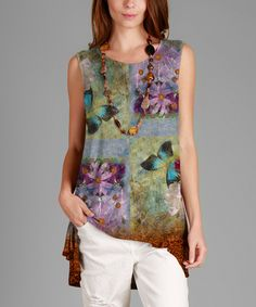 Look what I found on #zulily! Green Butterfly Hi-Low Tunic - Plus by Sunflower #zulilyfinds