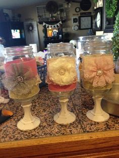 Shabby Chic Decor - this can easily be done with dollar store stuff.