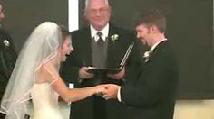 bride laughing during vows - YouTube