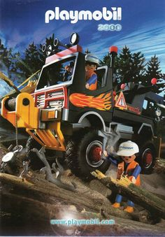 2000 PLAYMOBIL CATALOG POWER TRUCK COVER INCL. JUNGLE,SEA,SPACE,NATIVE AMERICANS #Playmobil