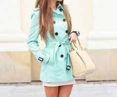 Teal Trench Coat <3