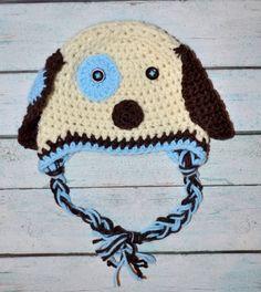 newborn boy hat  puppy dog  Customize the by SweetBabiesinYarn, $20.00