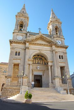 Province of Bari , Puglia region cathedral--Loved Alberobello (except for the crowds! Neoclassical Architecture, Renaissance Architecture, Holland America Cruises, Cathedral Church, Southern Italy, Place Of Worship, Kirchen, Amazing Architecture, Sicily