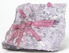 Pink Rubellite Tourmaline Crystals in Pale by FenderMinerals